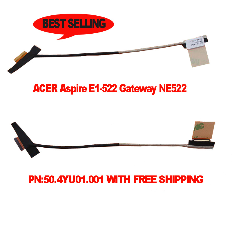 Ny Original LCD LED-Video Flex för ACER-aspiration E1-522 Gateway NE522 Laptop Skärmskärmskabel 50.4YU01.001 50.4YU01.011