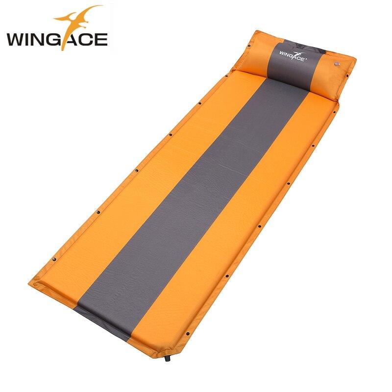Self Inflatable Mattress Camping Mat With Pillow Air Bed Sleeping Pad Ultralight inflatable Camp Folding Bed Beach Outdoor Mat