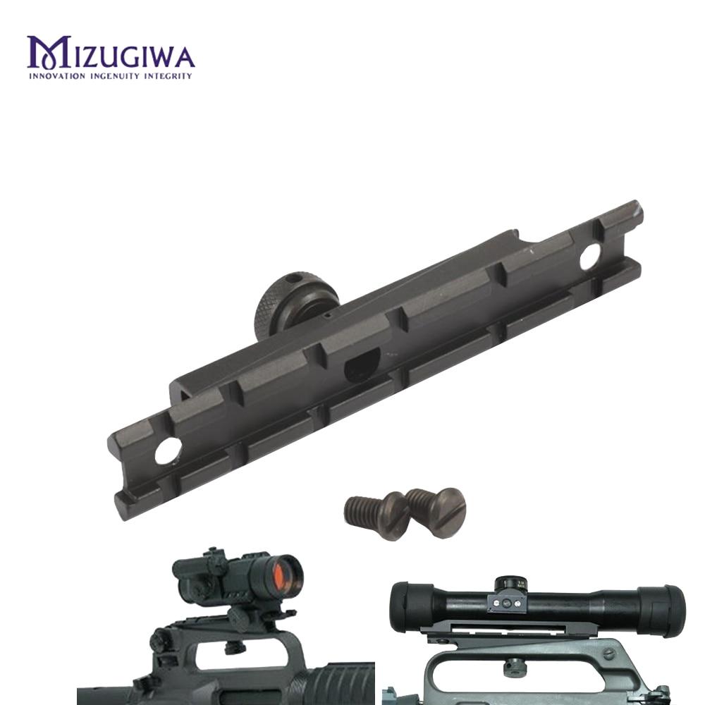 Plana superior ferroviário tecelão montagem 20mm escopo base ar comprimento 132mm para m4 m16 levar alça caça acessórios caza