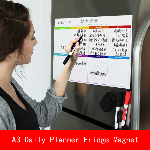 a3 30 40cm magnetic calendar fridge magnets dry erase board to do