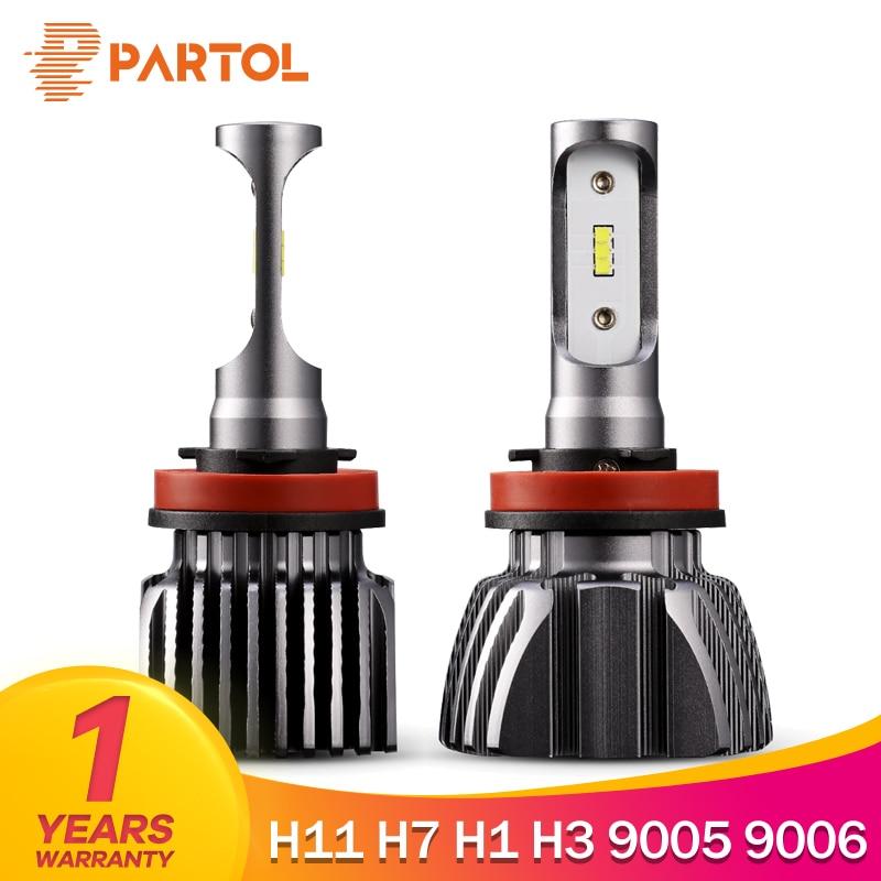 Patrulla sin ventilador H7 Car LED faros bombillas H11 H1 LED automóvil faro Luz de niebla para Renault Scenic Koleos latitude 9005/9006