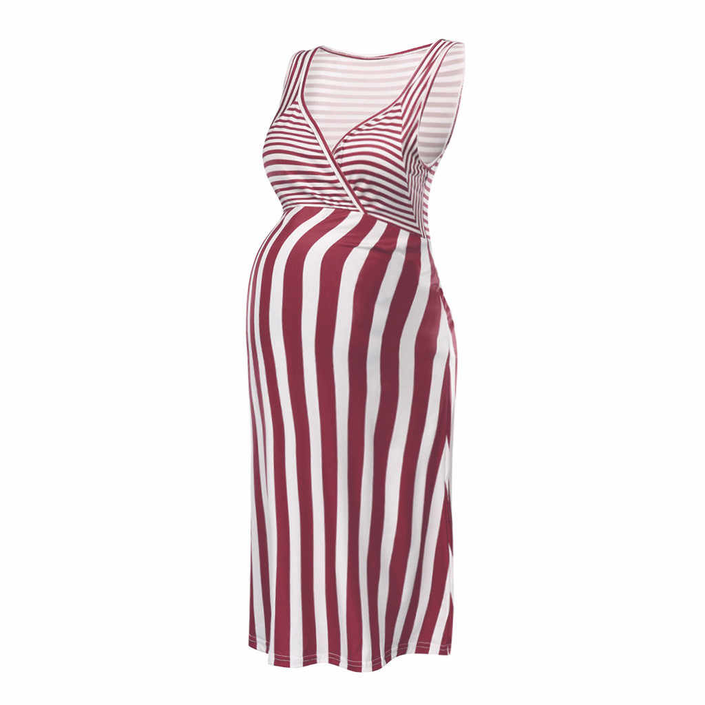 Huang Neeky W #4 2019 nueva moda de mujeres embarazadas sin mangas de maternidad embarazada vestido de estampado Sexy verano caliente envío gratis