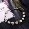 ALIUTOM New Fashion Black Rope Chain Natural Seashell Choker Necklace Collar Necklace Shell Choker Necklace for Summer Beach Gif 5