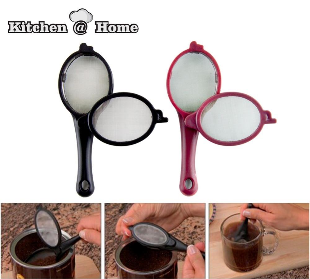 2 PCS/set Coffee Tea Infuser Filter Baskets Mesh Spoon BPA Free ...