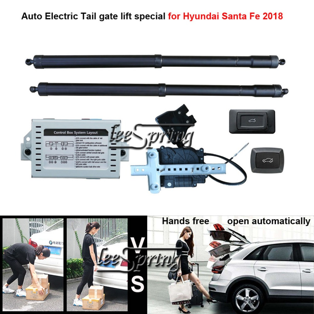 Car Electric Tail Gate Lift Special For Hyundai Santa Fe 2018 With Suction