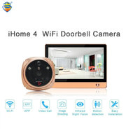 (1 Set) The Newest Wifi/Wireless Peephole Doorbell with Camera Door Viewer 7'' LCD Display+Movement Detect+IR Night Vision