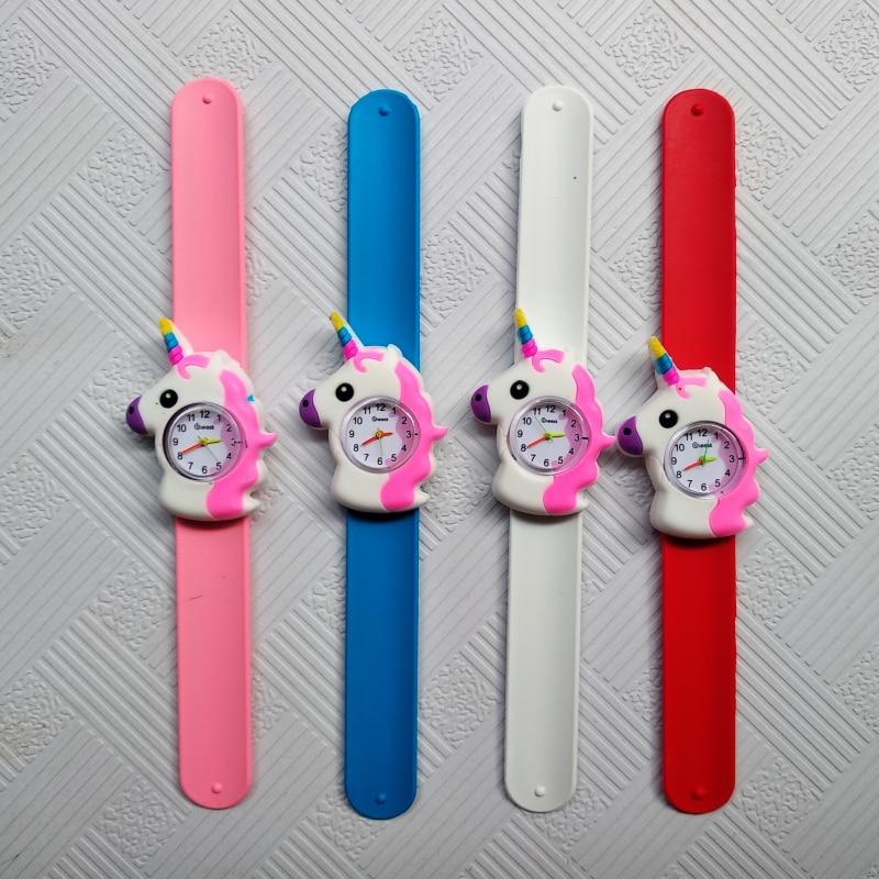 Relogio Masculino Pony Pattern Kids Watches Pat Hand Watch LED Electronic Sports Watch Strawberry Children Watch Girl Baby Clock