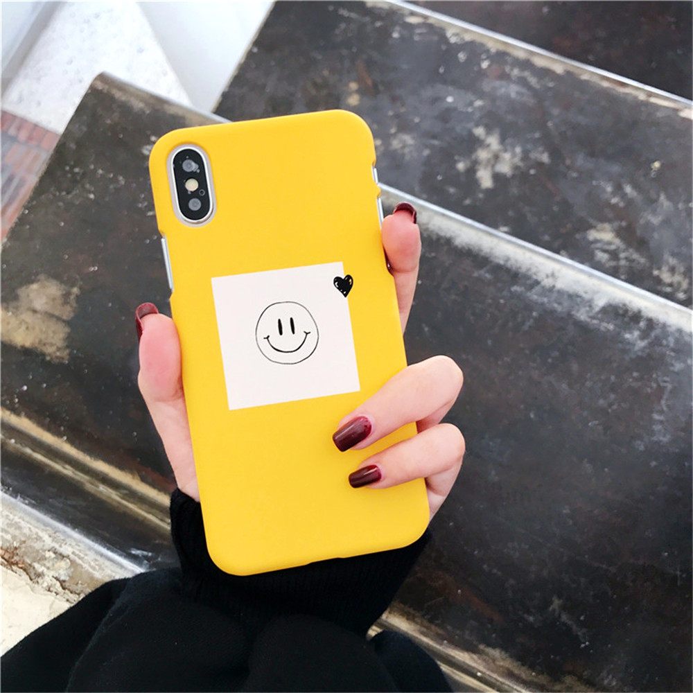 Simple Smile Expression Painting Phone Case for iPhone 6S 6 Plus Cases iPhone 6 6S Plus Girl Style Cute Cartoon Back Cover Funda