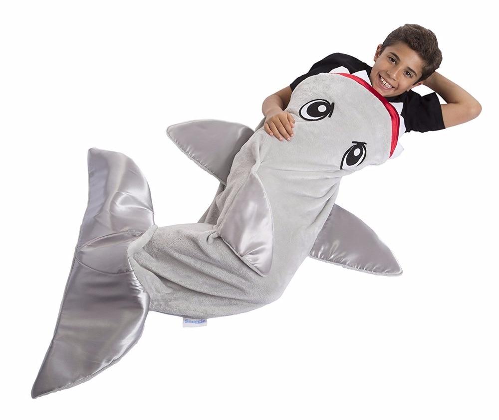 Fleece Blanket Shark Mermaid Tail Blanket Children Sleeping Sack Kids Baby Infant Blanket Sleep Sack Birthday Christmas Gift