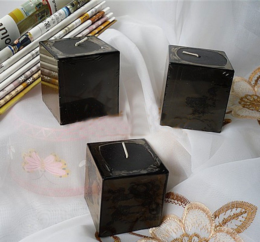 3pcs Pack Square Block Flower Scented Candles Store Party