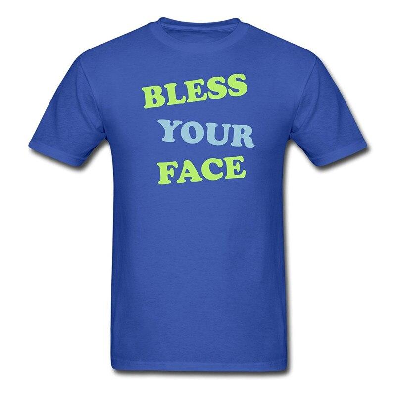 Tee Shirt Shop Short Sleeve Printing Machine O-Neck Mens Tobuscus Bless Your Face MenS T Shirts