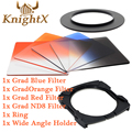 KnightX окончил цвет Н. д. Синий объектив камеры Комплект фильтров для Cokin Серии P камеры для Nikon Canon 49 52 мм 58 мм 67 мм 72 мм 77 мм