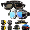 Hot Sale Men Women Steampunk Goggles Flying Scooter Vintage Helmet Unisex Gothic Vintage Victorian Glasses Fast Shipping