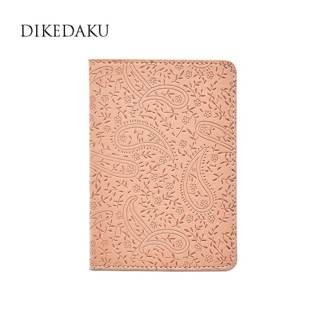 Dikedaku Лаванда на Обложка для паспорта для Для женщин модные цветочные путешествия Обложка для паспорта милые дамы Повседневное Кожа паспорта