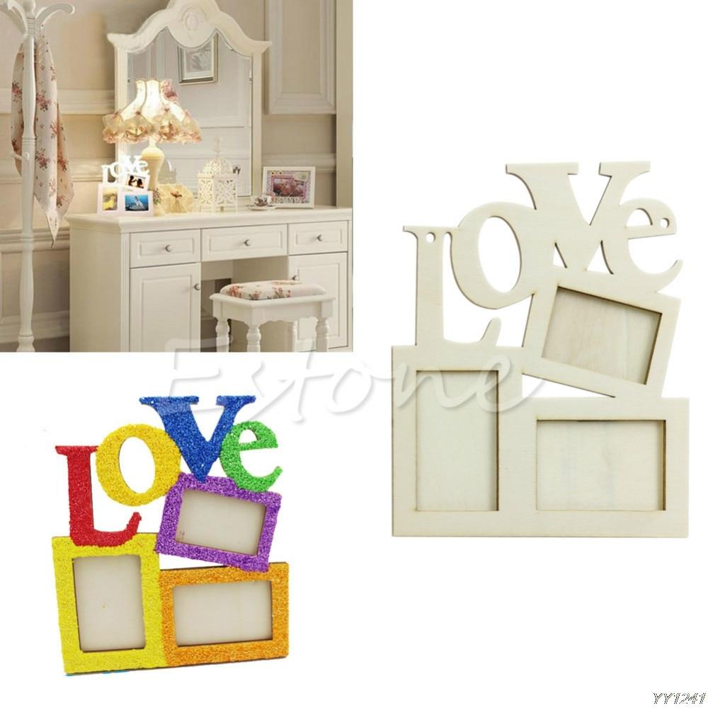 Sweet Love Wooden Photo Frame porta retrato Rahmen DIY Special ...