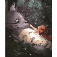 New Digital Diy Oil Painting By Numbers My Neighbor Totoro Cartoon Picture On Canvas Oil Paint