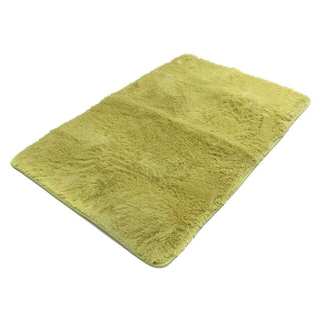 Fluffy Anti Skid Shaggy Area Rug Yoga Carpet Home Bedroom Floor Dining Room Mat Grass