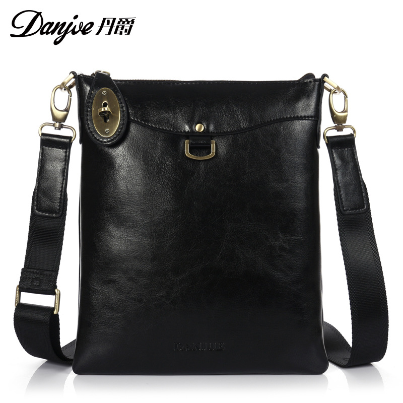 DANJUE Brand Designer High Quality Genuine Leather Shoulder Bags Men Cowhide Messenger/Crossbody Bag Business vintage travel bag high quality men canvas bag vintage designer men crossbody bags small travel messenger bag 2016 male multifunction business bag