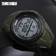 SKMEI Fashion Sport Watch Men Military Army Watches Alarm Clock Shock Resistant Waterproof Digital Watch Reloj Hombre 2019 New cheap Digital Wristwatches Plastic Buckle 5Bar Auto Date Water Resistant Chronograph Back Light luminous Repeater 1025 No package