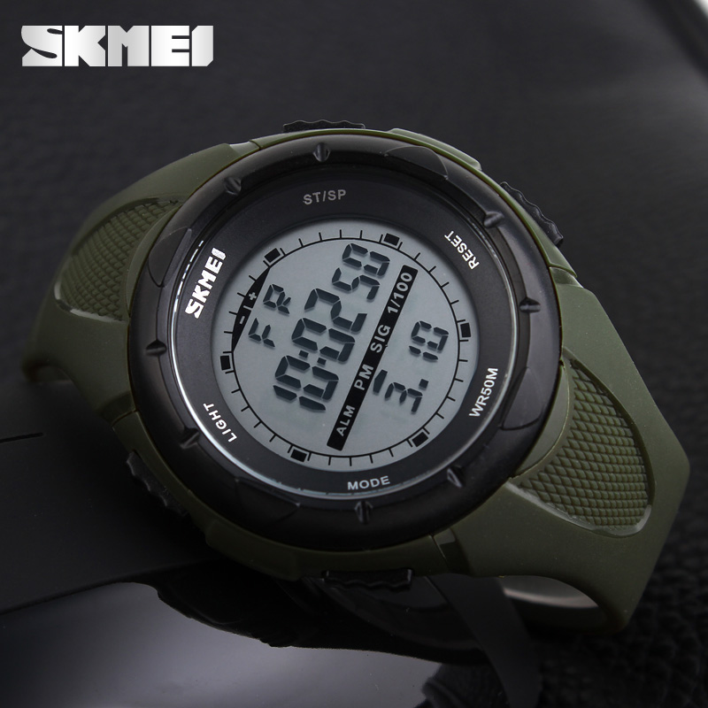 SKMEI Digital Watch Alarm-Clock Shock-Resistant Military Army Waterproof Men Fashion