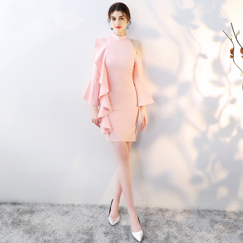 New  Satin Pink Mermaid Bridemaid Dresses 2019 Long Formal Wedding Party Prom Reflective Dresses Robe De Soiree Vestido De Noiva