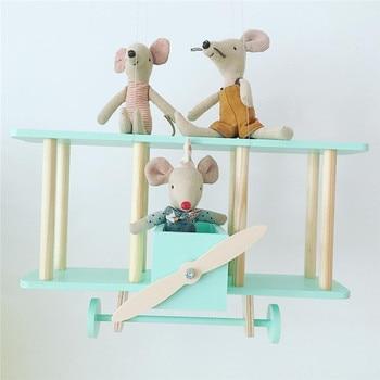 Wood Shelves For Walls | Creative Wooden Airplane Shelf Medium Airplane Nursery Baby And Child Room Wall Decoration Birth Idea Gift 100% Handmade