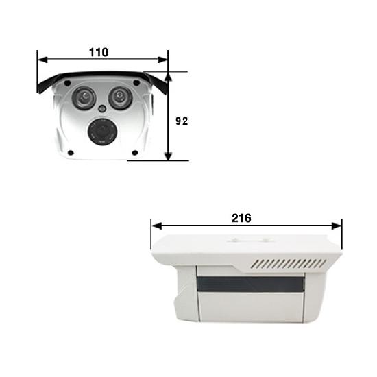 Volles 720p 4-Kanal-PoE-Überwachungskamerasystem (Power Over - Schutz und Sicherheit - Foto 4