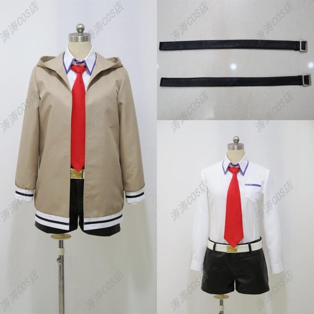 Здесь продается  Steins Gate Makise Kurisu Cosplay Costume Woman Man S M L XL XXL Or Custom Made free shipping  Одежда и аксессуары