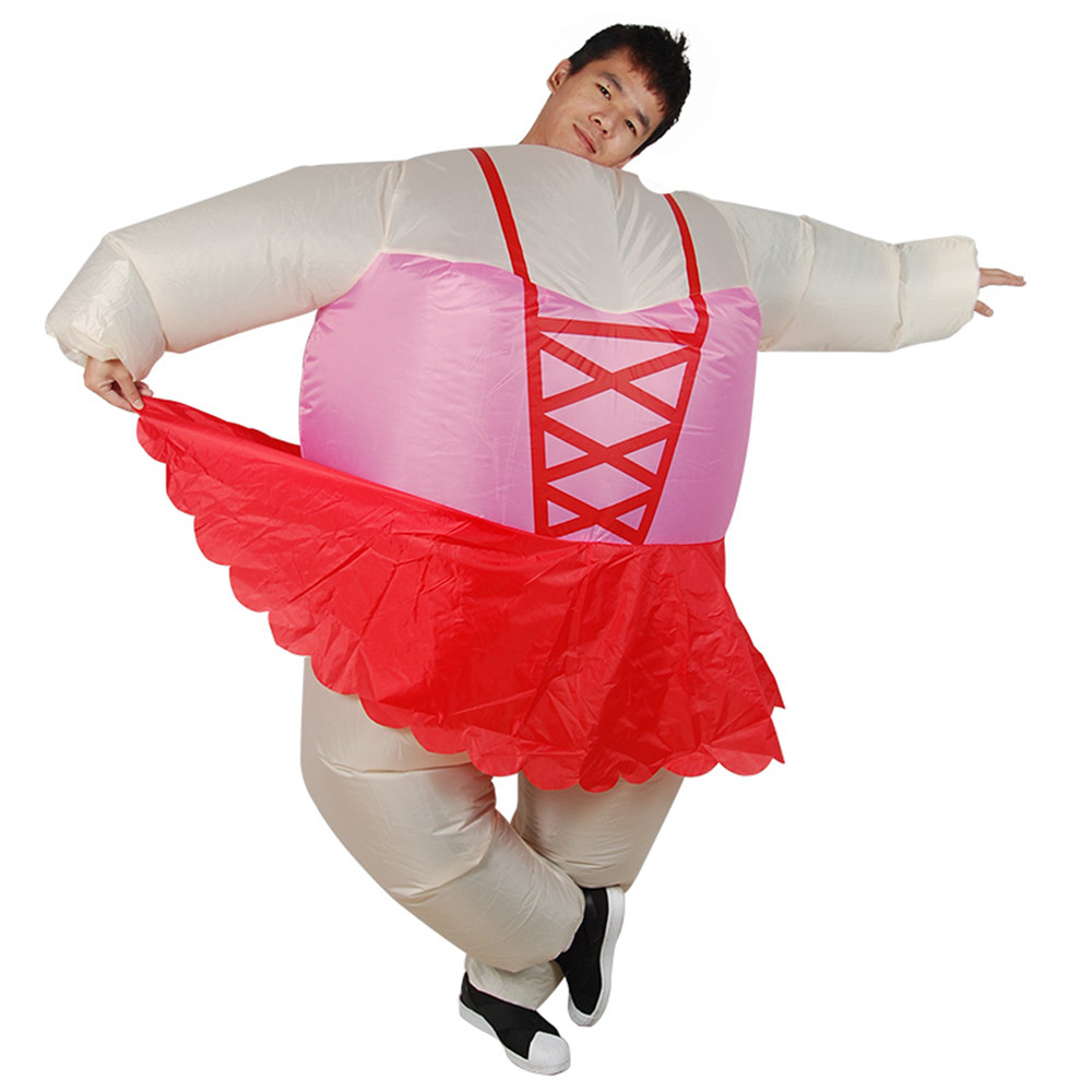 Newest Inflatable Ballet Costume Halloween Party Funny Fat Man Ballet Fancy Dress For Adult Christmas Gift for men/women