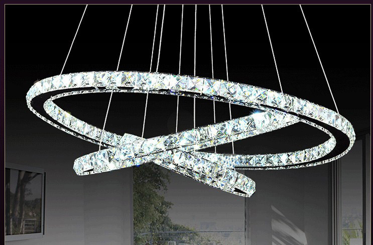 Չժանգոտվող պողպատ 3 օղակներ 65W LED K9 - Ներքին լուսավորություն - Լուսանկար 3