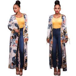 Поступление Специальное предложение африканские платья для Для женщин в Костюмы Акция 2019 Мода шифон с длинным рукавом платье