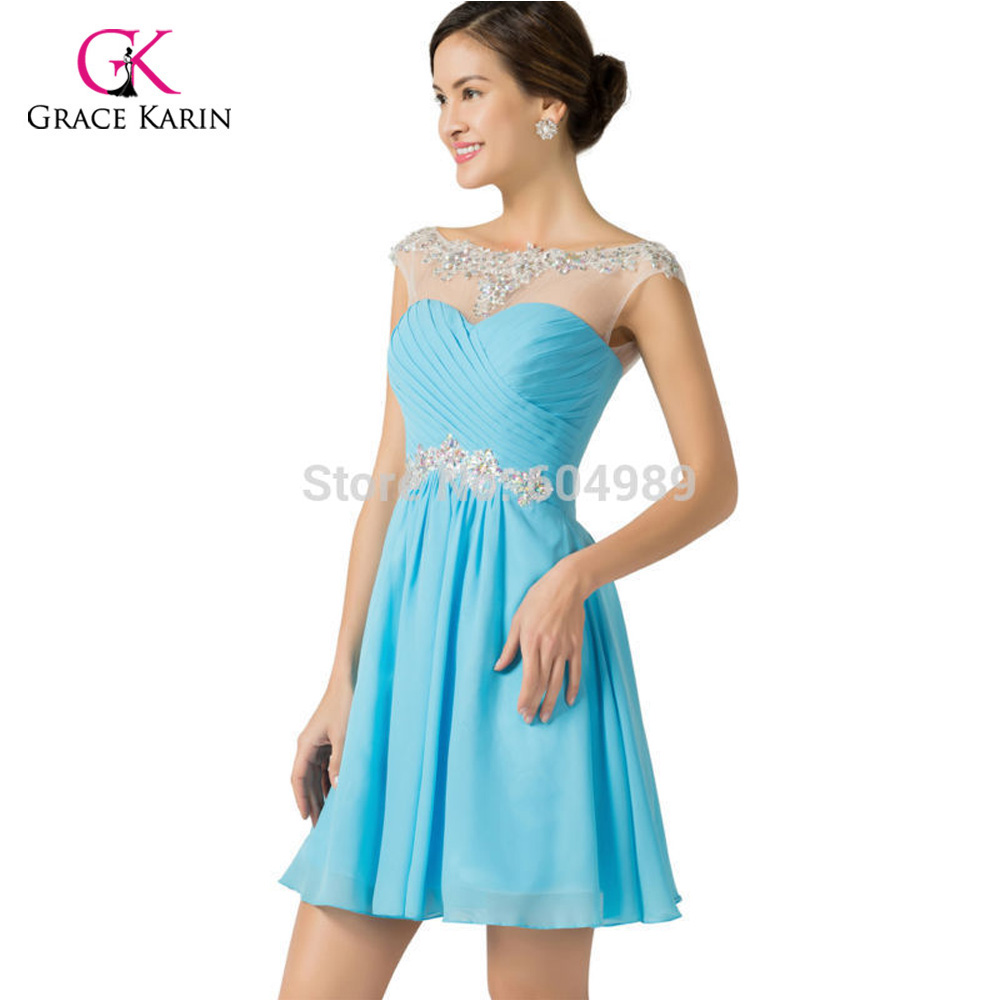 Dress mobile picture more detailed picture about cheap cheap bridesmaid dresses under 50 grace karin royal blue purple women chiffon beaded prom dress short ombrellifo Images