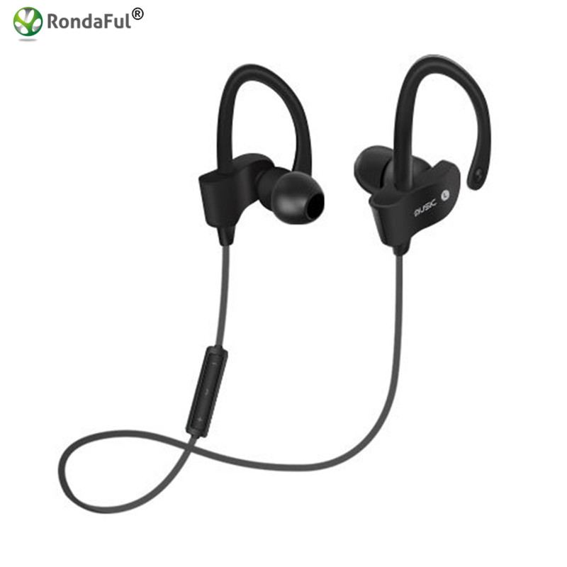 Wireless Sports Earphone with Microphone Earhook In-ear Bluetooth 4.1 Stereo Voice Control Noise Reduction for Iphone 5s 6s Sony 6 colors mini wireless bluetooth v4 0 earphone q3 in ear stereo voice control earphone call music