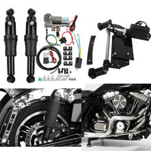 Motorcycle Rear Air Ride Suspension+Electric Center Stand Fit for Harley Touring Models 09-16