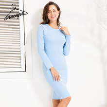 Women Dresses Casual Solid Color Thick Fabric