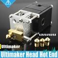 Impresora 3D Heaterblock Ultimaker 2 + UM2 extrusora de una sola cabeza Olson block kit boquillas 0,25/0,4/0,6/0,8mm HotEnd para 1,75/3mm