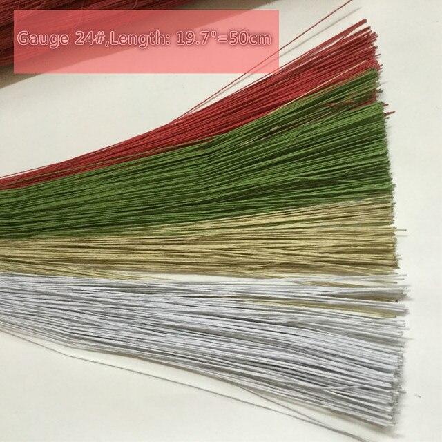 2000 pcs Lot) 24   Bunga Batang Kawat Gauge 19.7