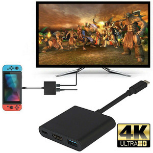Converter 1080P 4K HDMI Adapter for Switch Type C USB to HDMI Converter Dock Cable USB 3.1 Type C Hub Adapter(China)