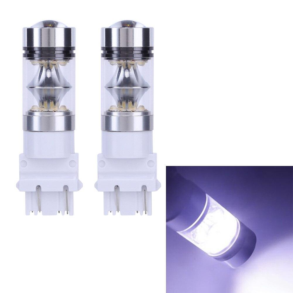 2pcs 1000Lm High Power Led Car Lights T25 3156 100w Led Running Lights Brake Lights White Stop Tail Brake Turn Light Bulb
