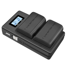 Lp-E6 Battery Charger Lcd Dual Charger For Canon Eos 5Ds R 5D Mark Ii 5D Mark Iii 6D 7D 80D Eos 5Ds R Camera LED USB Dual Chager