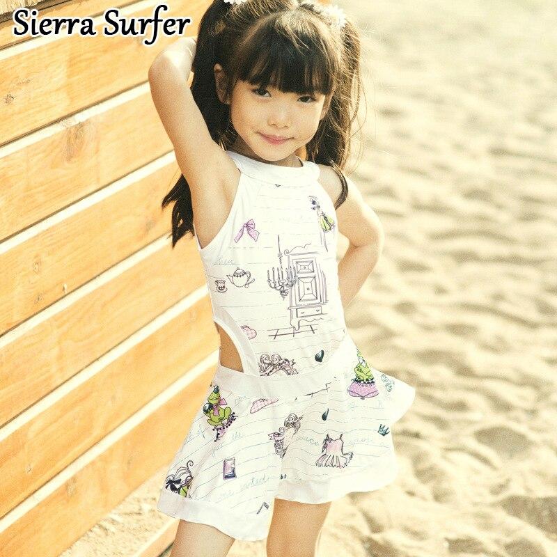 Swimsuit For Children Kids Swimming Suit Baby Clothes Swimwear Girls Summer 2018 Bathing Skirt School Wear Classic Bikini