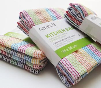4pcs/pack 100% Cotton Super Absorbent Kitchen Swab Kitchen Towel Kitchen Cleaning Cloths 35cmx35cm
