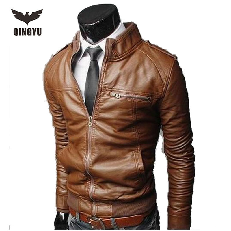Compare Prices on Synthetic Leather Jacket Men- Online Shopping ...