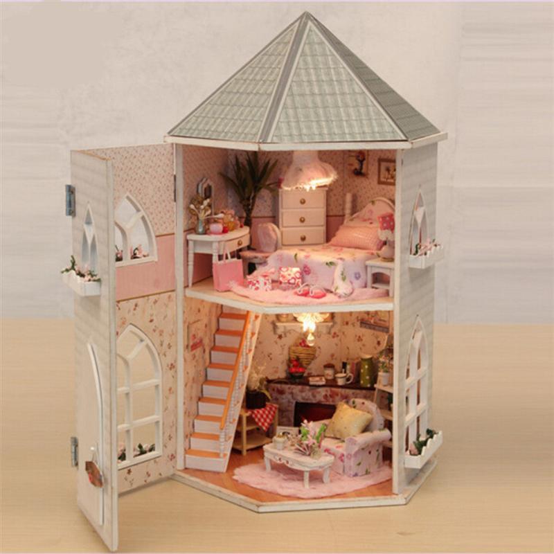 Love Fortress деревянная Сборная модель здания дом Валентина рождественский подарок DIY фигурки миниатюрные украшения ремесла - 4