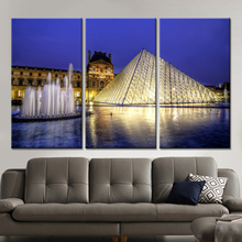 New 3 Pieces/sets Canvas Art Canvas 3 Panels HD Night Music Fountain Paintings Decorations For Home Wall Art Prints Canvas\A327
