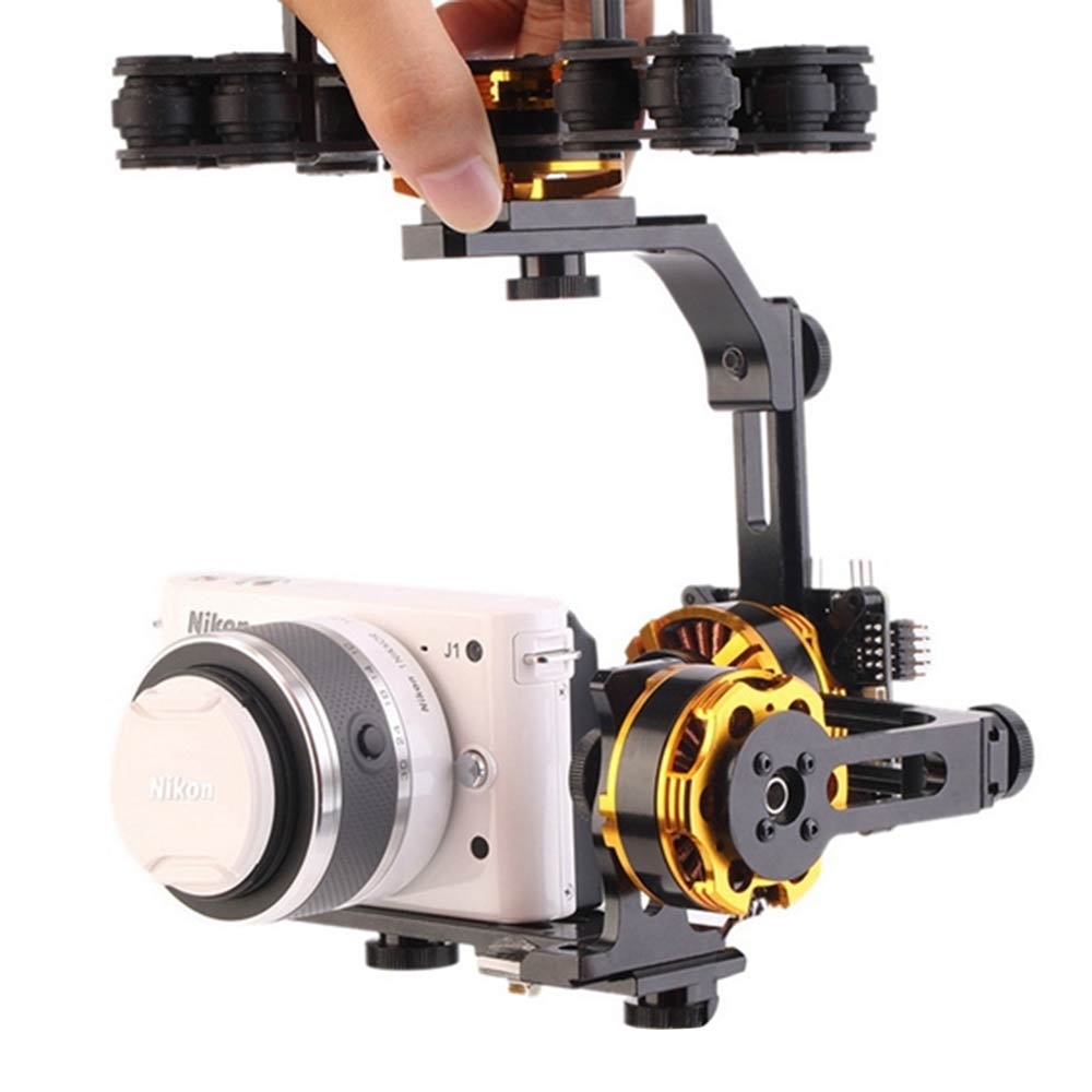 DYS 3 Axis Brushless Gimbal with Motor and Controller for Sony NEX ILDC Camera FPV Photography fpv 3 axis cnc metal brushless gimbal with controller for dji phantom camera drone for gopro 3 4 action sport camera only 180g