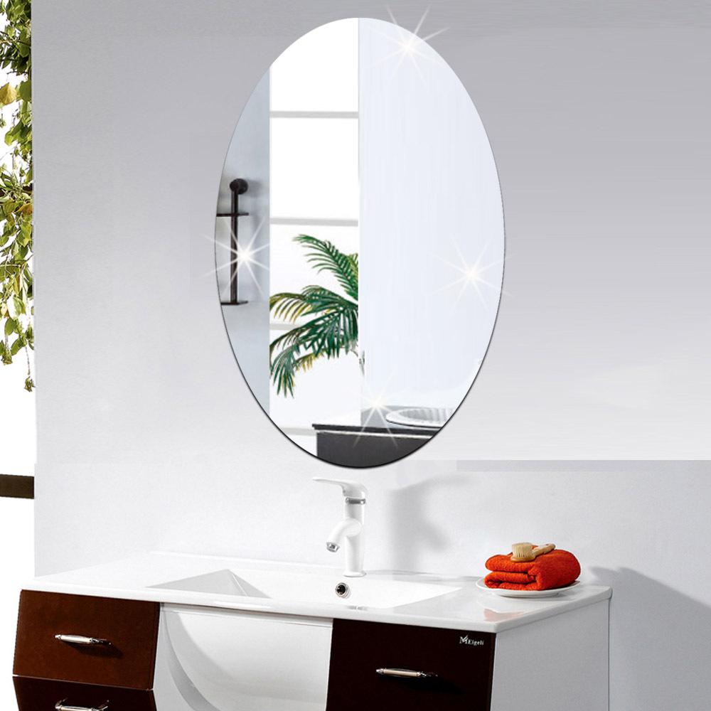 moda oval decoracin etiqueta engomada de cristal del fondo del sof decoracin del hogar del espejo