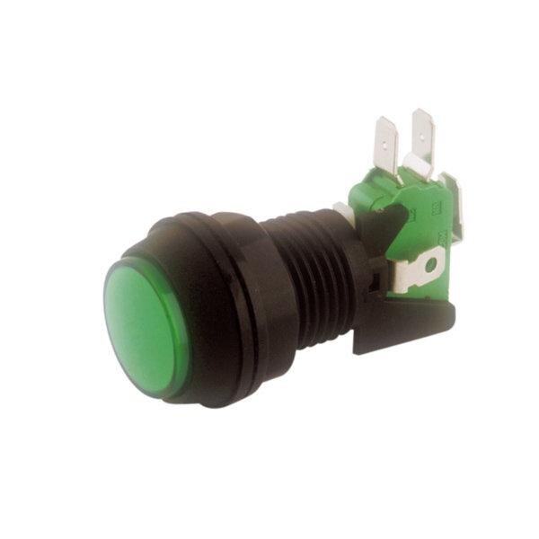 Красная светящаяся кнопка с микропереключателем 2 W 16A электро DH 11 526/R