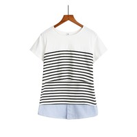 Breastfeeding Nursing Tops Maternity Clothes Breast Feeding Top Pregnancy T-Shirt For Pregnant Women Clothing Mother Wear Summer
