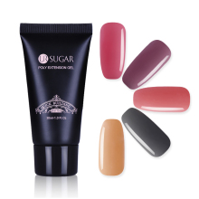 UR AZÚCAR 30 ml Crystal Poly Gel French Nail Quick Building UV Gel Jelly Consejos de acrílico Finger Extension Builder Herramienta de gel de camuflaje